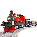 povoljno Konstrukcijske igračke-Igračke auti Kocke za slaganje Vojni blokovi _ Train Vojnik kompatibilan Legoing Uradi sam Vlak Igračke za kućne ljubimce Poklon