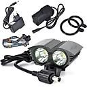 ieftine Frontale-LED Lumini de Bicicletă Iluminat Bicicletă Față Ciclism montan Bicicletă Ciclism Rezistent la apă Reîncărcabil Foarte luminos Portabil 18650 Baterie de litiu 6000 lm Baterie Alb Natural Camping