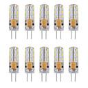 povoljno LED klipaste žarulje-10pcs 1 W LED svjetla s dvije iglice 460 lm G4 Cijev 24 LED zrnca SMD 3014 Ukrasno Toplo bijelo Hladno bijelo 12 V / 10 kom. / RoHs