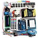 ieftine Îngrijire Unghii-funduino avansat kit de pornire cu motor servo LCD breadboard dot matrice a condus element de ambalaj de bază compatibile pentru Arduino
