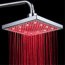 ieftine Robinete Duș LED-top cap de duș cu temperatură de culoare tricoloră de culoare / 8 inch spray booster de top de apă (ABS plating) condus