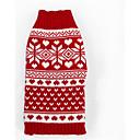 ieftine Imbracaminte & Accesorii Căței-Câine Pulovere Iarnă Îmbrăcăminte Câini Crăciun Costume De Lână Dungi Casul / Zilnic XXS XS S M