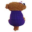 povoljno Narukvice-Pas Puloveri Zima Odjeća za psa purpurna boja žuta Kostim Akril vlakna Cvijet Moda XS S M L