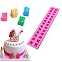 رخيصةأون أدوات الفرن-3d الإنجليزية رسائل سيليكون العفن للطفل diy بنة فندان كعكة الشوكولاته