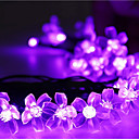رخيصةأون ربطات عنق-أضواء سلسلة 50 المصابيح تراجع LED أبيض دافئ / RGB / أبيض ضد الماء 100-240 V 1SET / IP44