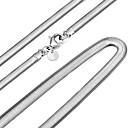 ieftine Colier la Modă-Bărbați Pentru femei Lănțișoare Șarpe Personalizat Modă Lateral Plastic Argintiu Coliere Bijuterii Pentru Nuntă Petrecere Zilnic Casual Sport