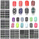 20 designs set nail art sticker nail hollow stencil stickers fish scale pattern diy nail stamping polish guide tools