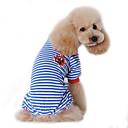 povoljno Odjeća za psa i dodaci-Pas Jumpsuits Pidžama Zima Odjeća za psa Crn Crvena Plava Kostim Pamuk Mornarski Ležerno / za svaki dan S M L XL XXL