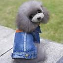 رخيصةأون ملابس وإكسسوارات الكلاب-كلب جواكيت جينز الشتاء ملابس الكلاب أزرق كوستيوم الدنيم جينزات ريفي موضة S M L XL XXL