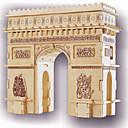 ieftine Jucarii puzzle-Puzzle Lemn Modele de Lemn Clădire celebru Arcul de Triumf nivel profesional De lemn 1 pcs Pentru copii Adulți Băieți Fete Jucarii Cadou