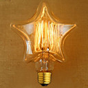 ieftine Accesorii LED-1pc 40w e27 stea retro dimmable / decorative cald alb incandescent vintage edison bec bec ac220-240v