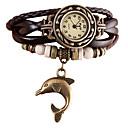 ieftine Cercei-Pentru femei Ceas Brățară Ceas de Mână ceasul cu ceas Quartz Piele PU Matlasată Negru / Alb / Albastru Punk imitație de diamant Analog femei Vintage Casual Boem Modă - Maro Rosu Albastru Deschis