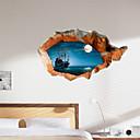 رخيصةأون ملصقات ديكور-3D ملصقات الحائط بحيرة يلة المياه البلاستيكية المادي جدار الجلد الزخرفية