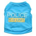 povoljno Zaštitne folije za Samsung-Mačka Pas T-majica Odjeća za psa Crn Plava Pink Kostim Terilen Policija / Vojna Ležerno / za svaki dan XS S M L