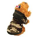 ieftine Imbracaminte & Accesorii Căței-Pisici Câine Haine Hanorace cu Glugă Iarnă Îmbrăcăminte Câini Culoare Camuflaj Leopard Costume Bumbac camuflaj Keep Warm Modă XS S M L XL