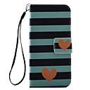 رخيصةأون أغطية أيباد-غطاء من أجل Apple iPhone 8 Plus / iPhone 8 / iPhone 7 Plus حامل البطاقات / قلب / نموذج غطاء كامل للجسم قلب قاسي جلد PU