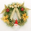 olcso Lakberendezés-karácsonyi koszorú 3 szín tűlevelek karácsonyi dekoráció házibuli átmérője 40cm navidad új év kellékek
