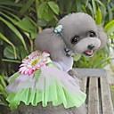 رخيصةأون أقراط-قط كلب الفساتين ملابس الكلاب أخضر زهري كوستيوم قماش زهور موضة XS S M L XL