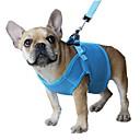 ieftine Câini Gulere, hamuri și Curelușe-Pisici Câine Hamuri Lese Respirabil Ajustabile / Retractabil Siguranță Mată Plasă Rosu Albastru Roz