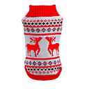 رخيصةأون وسائد-قط كلب البلوزات الشتاء ملابس الكلاب أسود أحمر كوستيوم الاكريليك وألياف الرنة كلاسيكي عيد الميلاد XS S M L XL XXL