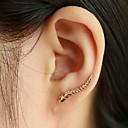 ieftine Cercei-Pentru femei Cercei Stud Cătușe pentru urechi Cățărătorii de urechi Leaf Shape Ieftin femei Modă Elegant cercei Bijuterii Argintiu / Auriu Pentru Zilnic Casual
