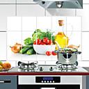 olcso Dekorációs matricák-75x45 cm-es zöldségmintás olajálló, vízálló, hőálló, konyhai fali matrica