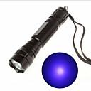رخيصةأون مصابيح اليد-أضواء فلاش ضوء أسود قابلة لإعادة الشحن 130 lm LED LED 1 بواعث 1 إضاءة الوضع قابلة لإعادة الشحن الأشعة فوق البنفسجية الخفيفة Camping / Hiking / Caving أخضر السفر / معدن الألمنيوم