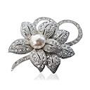 povoljno Broševi-Žene Broševi Cvijet dame Moda Broš Jewelry Pink Zlatan Za Party Dnevno Kauzalni