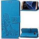 voordelige Galaxy S-serie hoesjes / covers-hoesje Voor Samsung Galaxy S8 Plus / S8 / S7 edge Portemonnee / Kaarthouder / met standaard Volledig hoesje Bloem PU-nahka