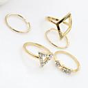 voordelige Fijne Sieraden-Dames Sieraden Set Kristal Zilver Gouden Turkoois Legering Modieus Feest Dagelijks Sieraden