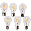 رخيصةأون مصابيح خيط ليد-KWB 6PCS 4 W مصابيحLED 350-450 lm E26 / E27 A60(A19) 4 الخرز LED COB ضد الماء ديكور أبيض دافئ أبيض كول 220-240 V / 6 قطع / بنفايات