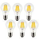povoljno Naušnice-KWB 6kom 7 W LED filament žarulje 760 lm E26 / E27 A60(A19) 8 LED zrnca COB Ukrasno Toplo bijelo Hladno bijelo 220-240 V / 6 kom. / RoHs
