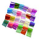 hesapli Tırnak Bakımı-24pcs/set Çıkartmalar ve Bantlar / Folyo Etiket / Çivi Çıkartması Işıltılı Simli / Ayna Etkisi / Nail Decals Tırnak Tasarımı Tasarımı