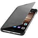 voordelige Galaxy J7 Hoesjes / covers-hoesje Voor Huawei Mate 9 Automatisch aan / uit / Flip Volledig hoesje Effen Hard PU-nahka