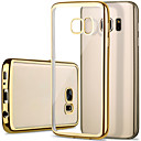 رخيصةأون حافظات / جرابات هواتف جالكسي S-غطاء من أجل Samsung Galaxy S7 edge / S7 / S6 edge تصفيح / شفاف غطاء خلفي لون سادة TPU