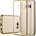 voordelige Galaxy S-serie hoesjes / covers-hoesje Voor Samsung Galaxy S7 edge / S7 / S6 edge Beplating / Transparant Achterkant Effen TPU