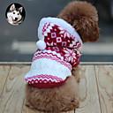 رخيصةأون ساعات النساء-قط كلب المعاطف هوديس الشتاء ملابس الكلاب متنفس بني أحمر أزرق كوستيوم قطن ندفة ثلجية الدفء موضة XS S M L XL
