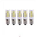 ieftine Becuri LED Corn-5pcs 5 W Becuri LED Corn 2700-3000/6000-6500 lm E14 T 51 LED-uri de margele SMD 2835 Alb Cald Alb Rece 220 V / 5 bc / RoHs