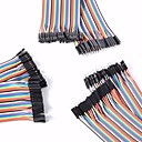 ieftine Componente DIY-masculin universal la bărbați / de sex masculin la feminin / de sex feminin la cablurile DuPont de sex feminin stabilite pentru Arduino
