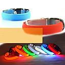 رخيصةأون أطواق ومقاود الكلاب-كلب ياقة أضواء LED قابل للسحبقابل للتعديل نايلون أخضر أزرق زهري