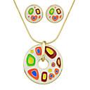povoljno Ženski satovi-Žene Komplet nakita dame Moda Naušnice Jewelry Obala / Crn / Crvena Za Party Dnevno / Ogrlice
