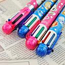 ieftine Instrumente Scris & Desen-Stilou Stilou Pixuri cu Bilă Stilou, Plastic Roșu Negru Albastru Galben Mov Verde Culori de cerneală For Rechizite școlare Papetărie