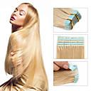 ieftine Peruci & Extensii de Păr-Febay cu Bandă Adezivă Umane extensii de par Drept Păr Virgin Păr Brazilian Blond platinat