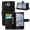 povoljno Trake i žice-Θήκη Za Nokia Lumia 520 / Nokia Lumia 630 / Nokia Lumia 950 Novčanik / Utor za kartice / sa stalkom Korice Jednobojni Tvrdo PU koža