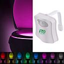 povoljno LED svjetla u traci-ywxlight® 8 boja WC školjka svjetlo vodio toaletno svjetlo ljudski senzor pokreta svjetlo kupaonica WC noćno svjetlo pir automatski aktiviran