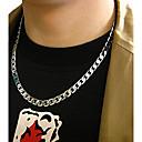 رخيصةأون القلائد-رجالي قلادات السلسلة سلسلة مربع موضة هيب هوب الصلب التيتانيوم قلادة مجوهرات من أجل زفاف مناسب للحفلات مناسب للبس اليومي فضفاض