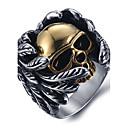 povoljno Prstenje-Muškarci Prsten Izjave Prsten Srebro Titanium Steel Vintage Punk Moda Halloween Dnevno Jewelry Meksička lubanja šećera Lubanja Calaveras