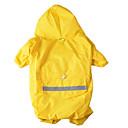 رخيصةأون أساور-كلب هوديس معطف المطر ملابس الكلاب الدفء تمويه اللون أصفر أحمر كوستيوم قماش لون سادة مقاومة الماء الرياضات XS S M L XL XXL