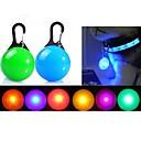 رخيصةأون أطواق ومقاود الكلاب-قط كلب أضواء LED البطاريات وشملت لون سادة بلاستيك أزرق زهري شفاف