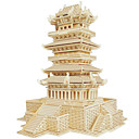 رخيصةأون 3D الألغاز-تركيب خشبي بناء مشهور الزراعة الصينية بيت المستوى المهني خشبي 1pcs للأطفال صبيان هدية